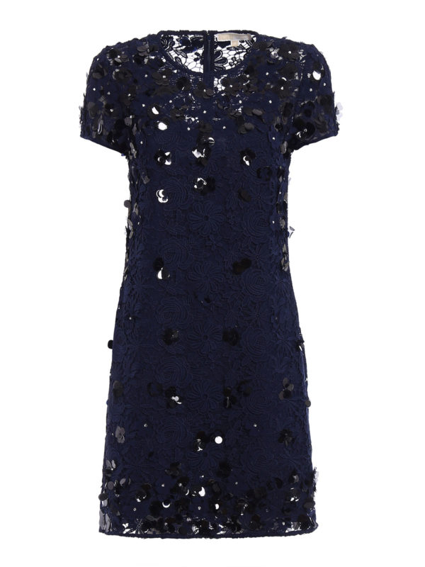MICHAEL KORS: cocktail dresses - Embellished lace and tulle dress