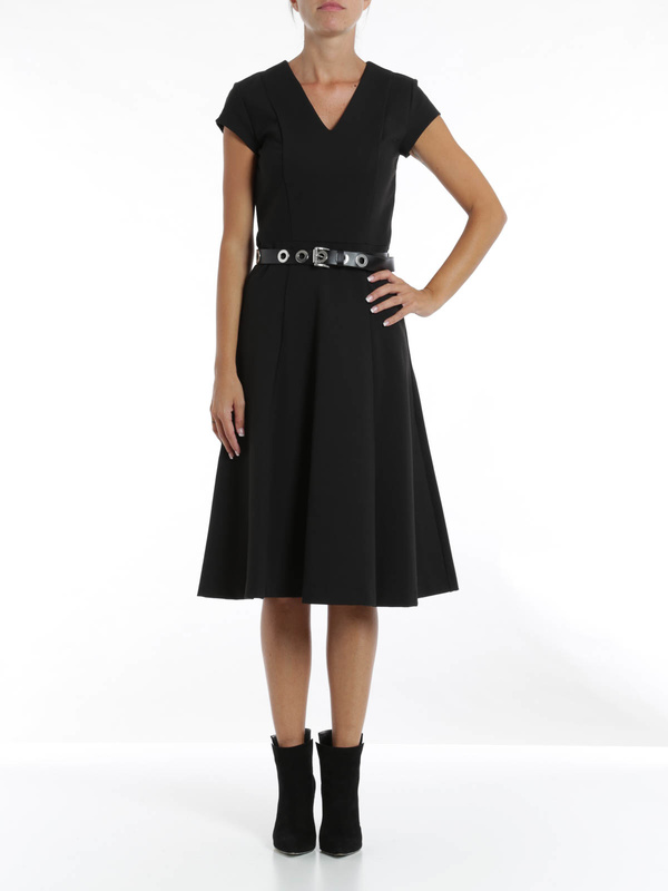 Michael Kors: knee length dresses online - V-neck flared dress