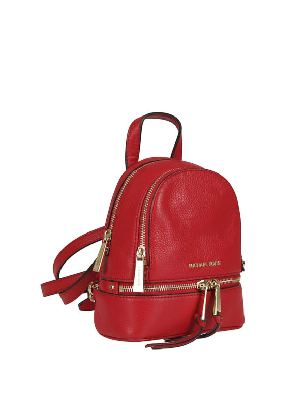 MICHAEL KORS: backpacks online - Rhea Mini red leather backpack