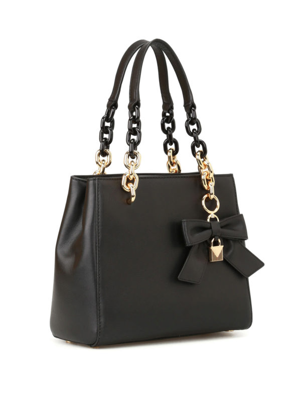 Michael Kors Borsa satchel di Cynthia elegante in pelle nera