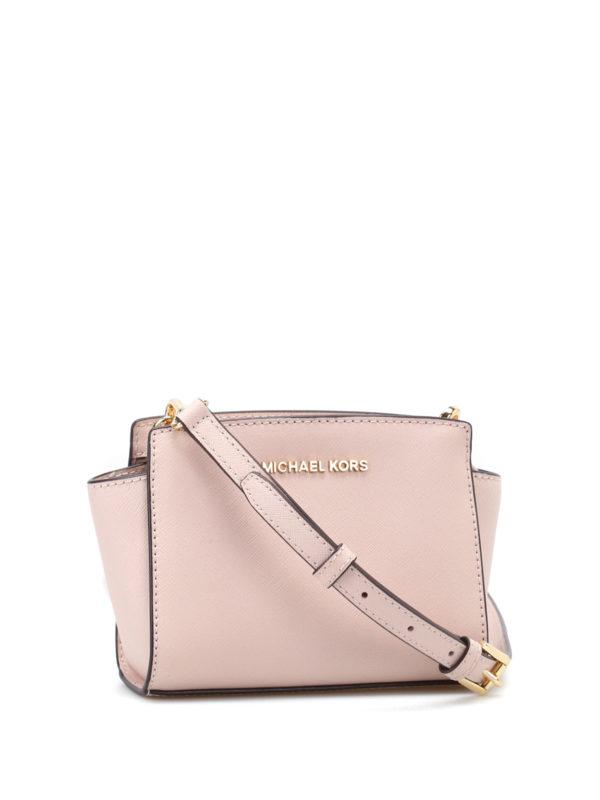 Selma mini soft pink messenger bag