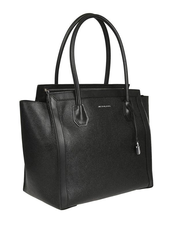 MICHAEL KORS: totes bags online - Mercer Studio L black leather tote