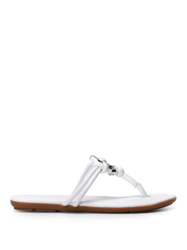 Michael Kors: sandals - Kinley leather thong sandals