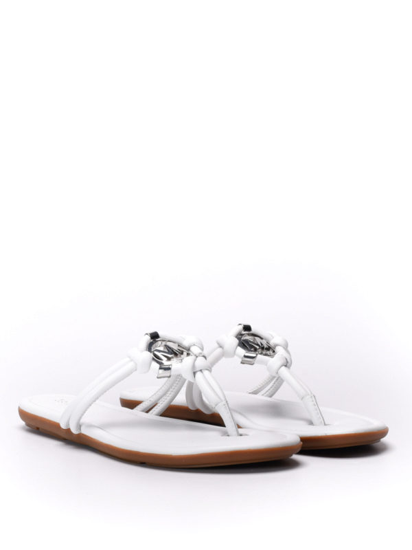 Michael Kors: sandals online - Kinley leather thong sandals