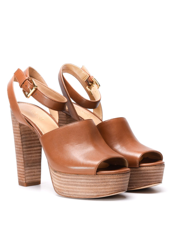 Michael Kors: sandals online - Trina platform leather sandals