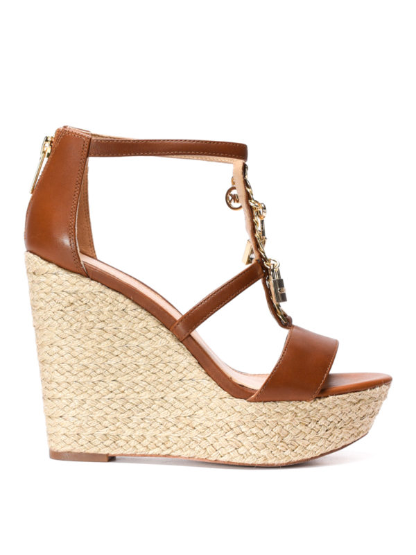 Michael Kors: sandals - Suki wedge leather sandals