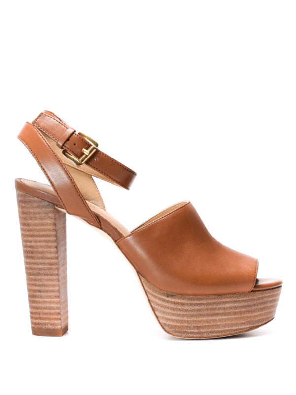 Michael Kors: sandals - Trina platform leather sandals
