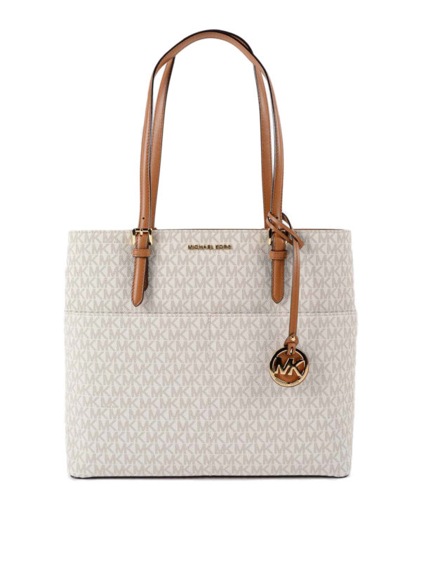 Michael Kors: Handtaschen - Shopper - Weiß