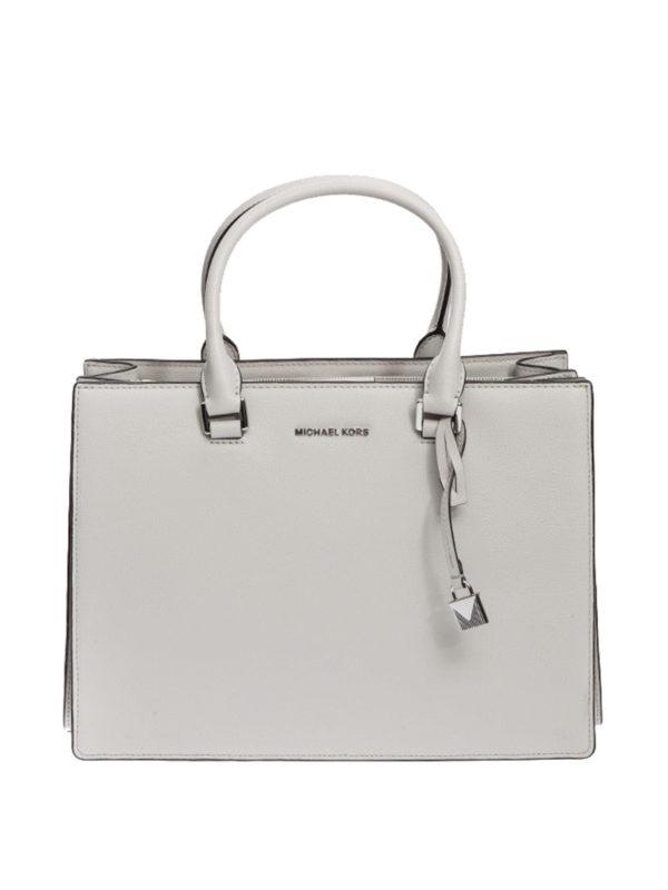 MICHAEL KORS: Handtaschen - Shopper - Hellgrau