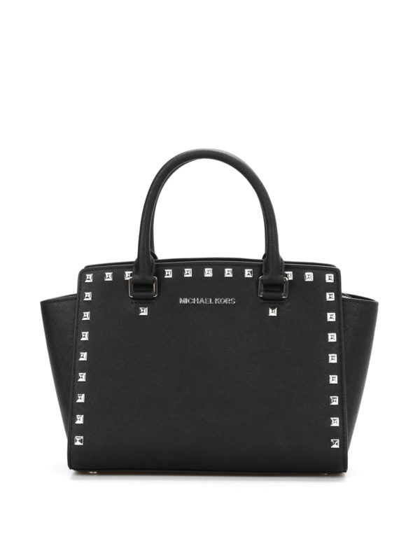 selma medium studded tote by michael kors totes bags ikrix. Black Bedroom Furniture Sets. Home Design Ideas