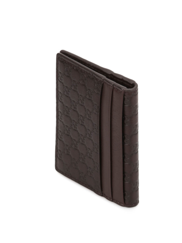Microguccissima leather card case shop online: Gucci
