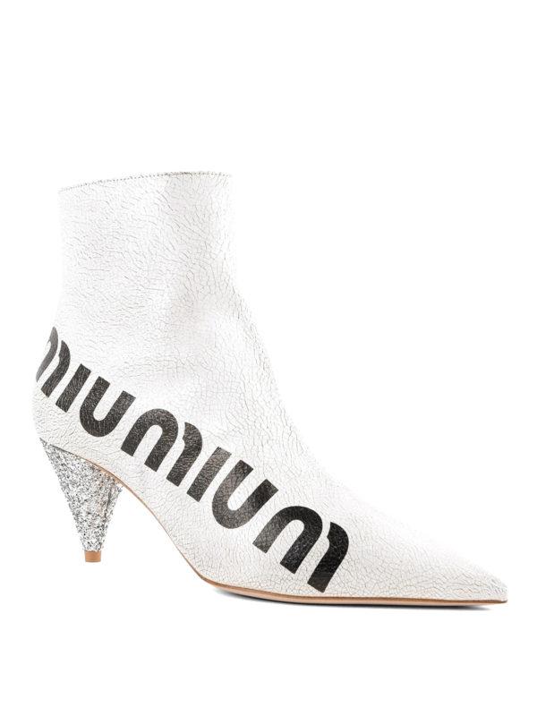 MIU MIU: Stiefeletten online - Stiefeletten - Weiß