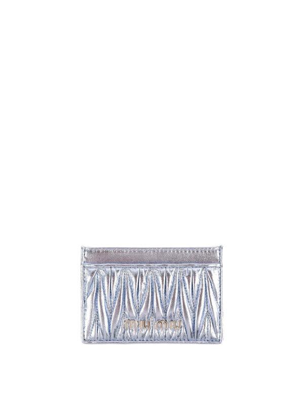 MIU MIU: Portemonnaies und Geldbörsen - Portemonnaie - Hellblau
