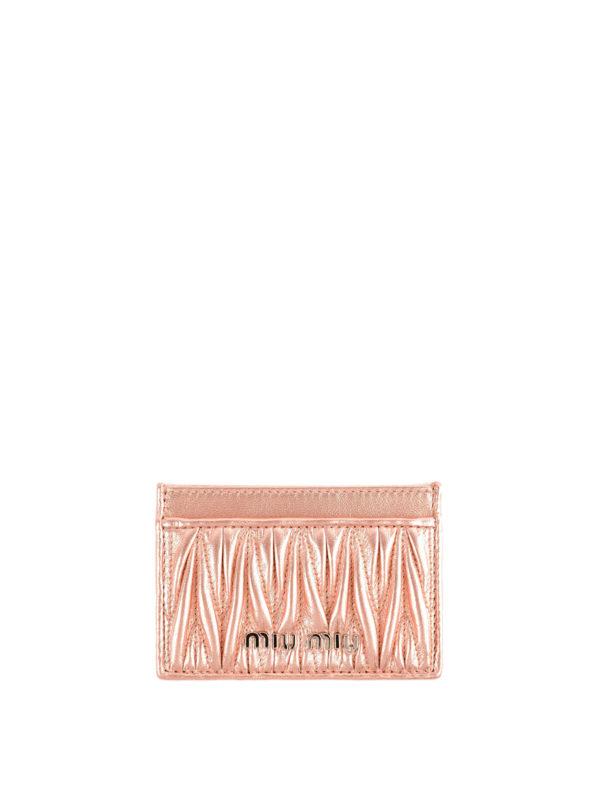 MIU MIU: Portemonnaies und Geldbörsen - Portemonnaie - Pink