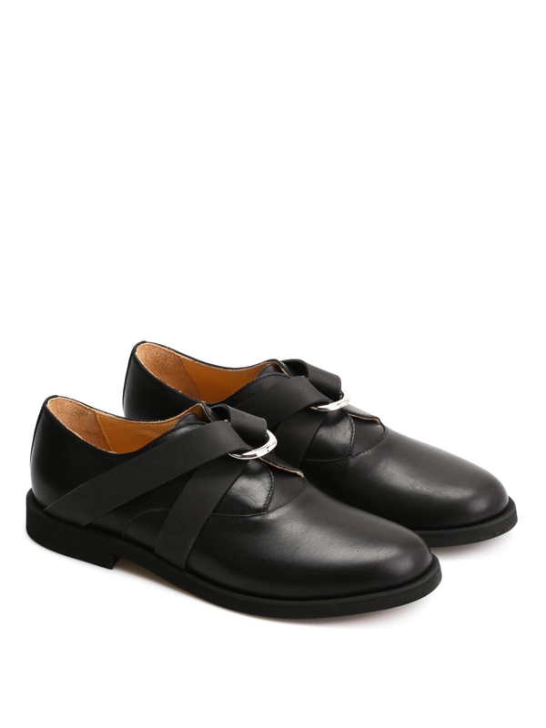 MM6 MAISON MARGIELA: classic shoes - Leather shoes with rubber details