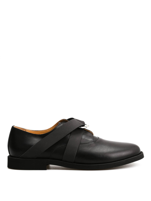 MM6 MAISON MARGIELA: classic shoes online - Leather shoes with rubber details