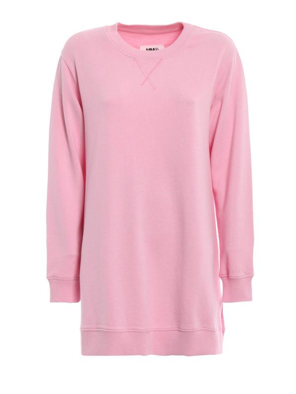 MM6 MAISON MARGIELA: Sweatshirts und Pullover - Sweatshirt - Pink