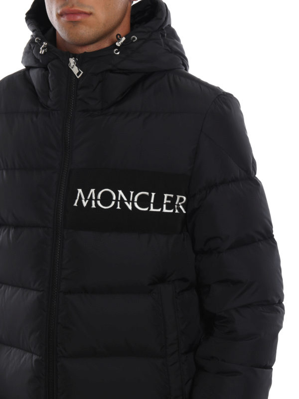 f98fde84d Moncler - Aiton embroidered logo black puffer jacket - padded ...