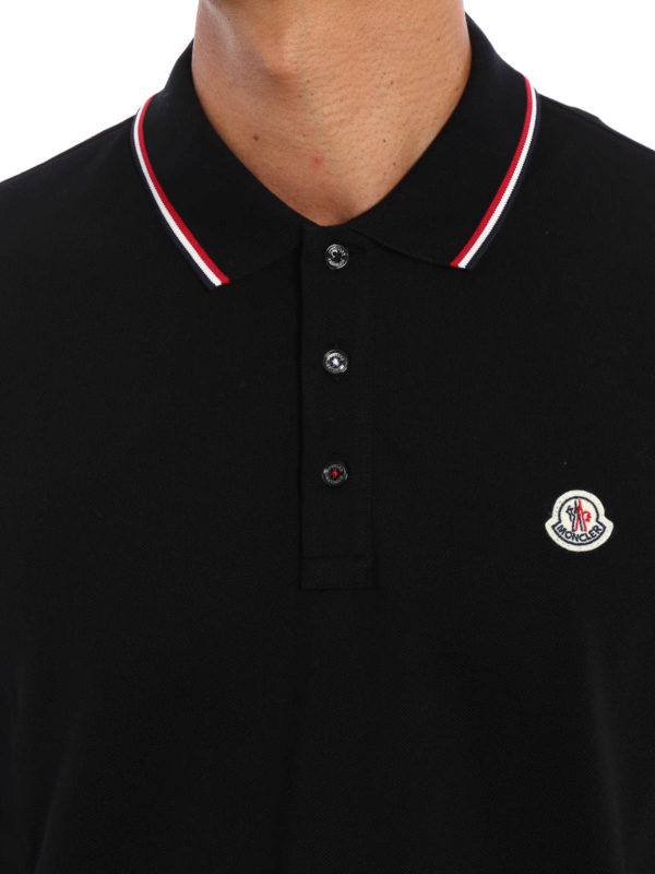 MONCLER buy online Long sleeved cotton polo shirt