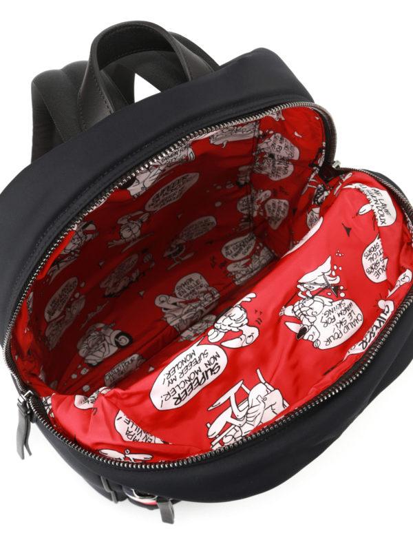 MONCLER buy online New George black nylon backpack