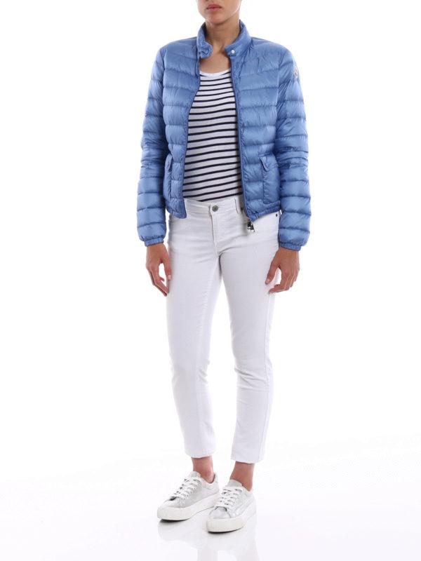 MONCLER: padded jackets online - Lans light blue puffer jacket