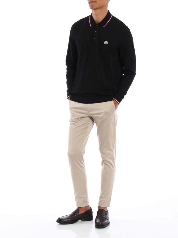 7dd6a9c21169 Moncler - Long sleeved cotton polo shirt - polo shirts - B2 091 ...