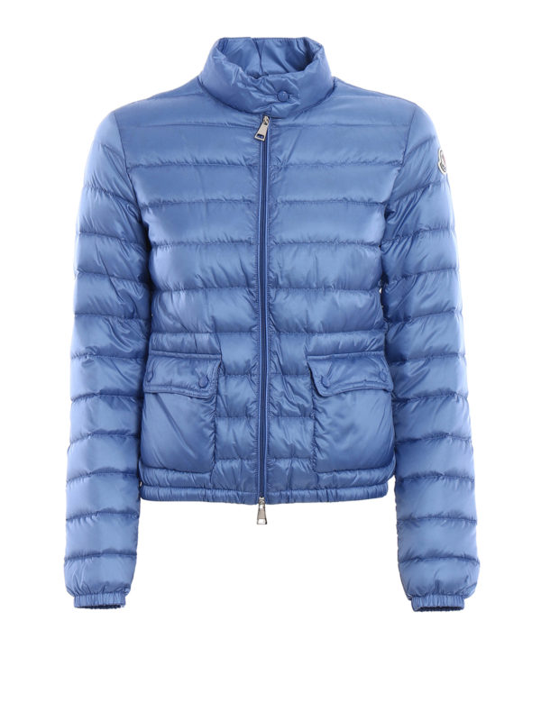 MONCLER: padded jackets - Lans light blue puffer jacket