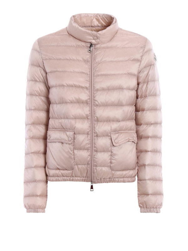 MONCLER: padded jackets - Lans light pink puffer jacket
