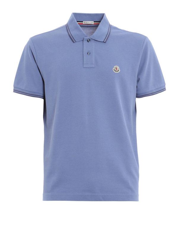 Cotton pique polo shirt by moncler polo shirts shop for Moncler polo shirt sale