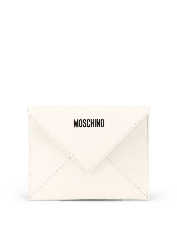 MOSCHINO: clutches - Be Mine leather clutch