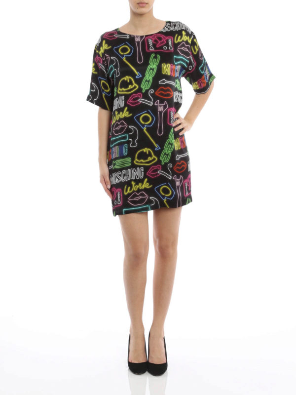 Moschino Couture: tunics online - Printed silk tunic
