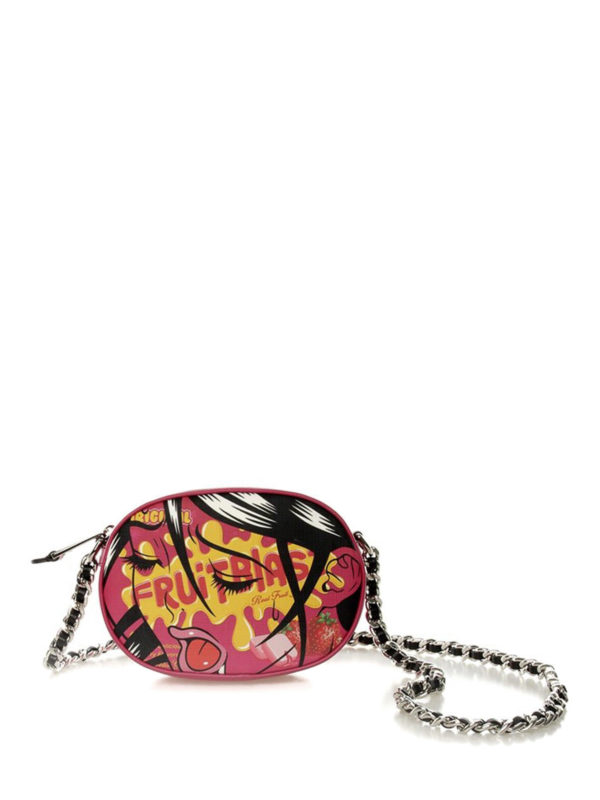 MOSCHINO: cross body bags - Printed faux leather crossbody