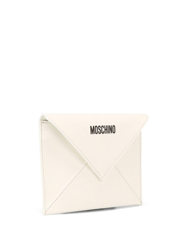 MOSCHINO: clutches online - Be Mine leather clutch