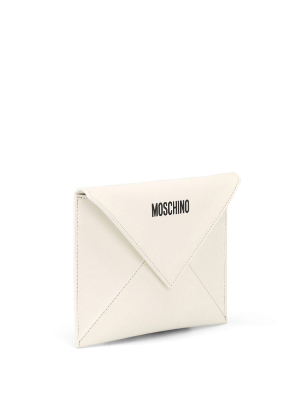 MOSCHINO: clutches online - I Love You leather clutch