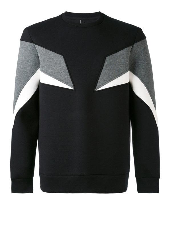Neil Barrett: Sweatshirts und Pullover - Sweatshirt - Schwarz