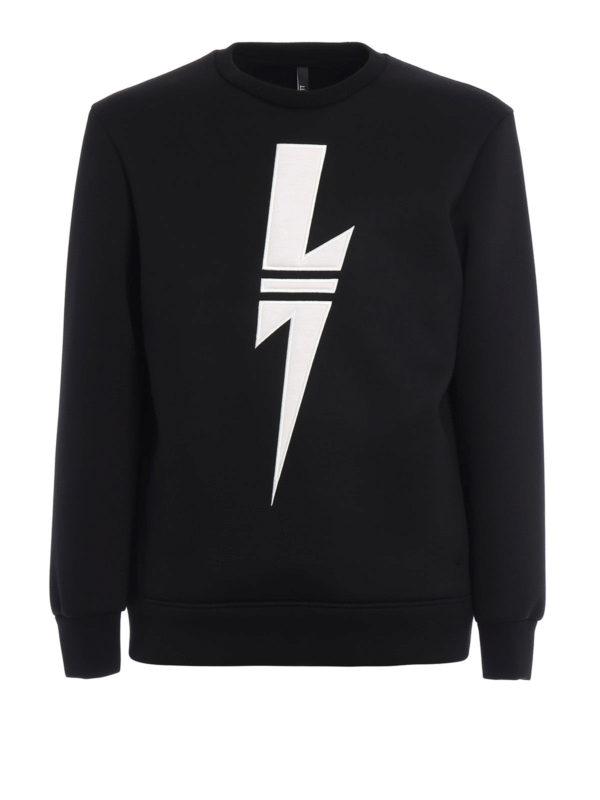 Neil Barrett: Sweatshirts und Pullover - Sweatshirt - Slim Fit