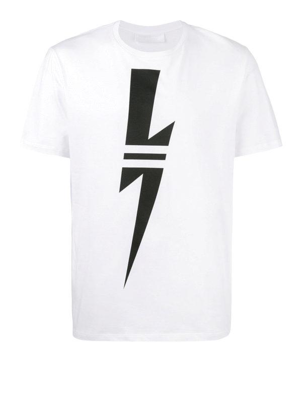 NEIL BARRETT: T-shirts - T-Shirt - Weiß