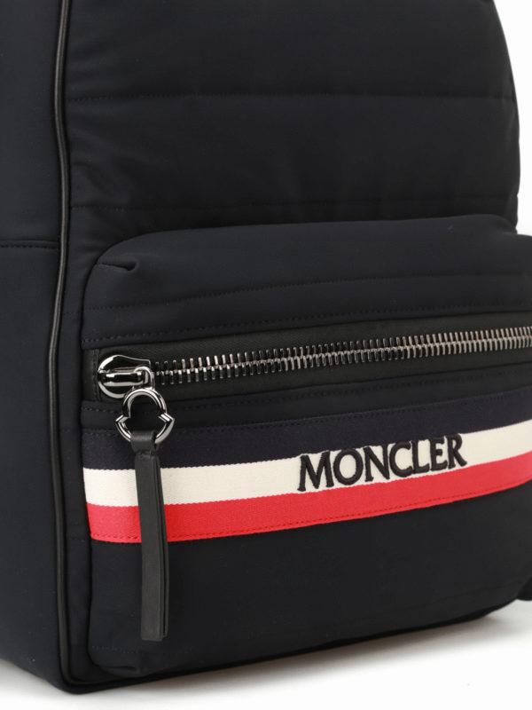 New George black nylon backpack shop online: MONCLER