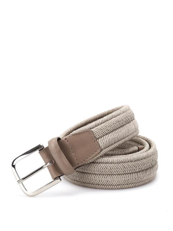 Orciani: Gürtel - Rope Elast Linen belt