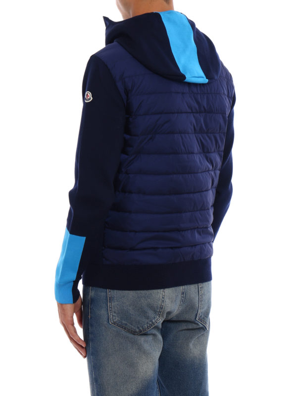 Padded back knit hooded jacket shop online: Moncler