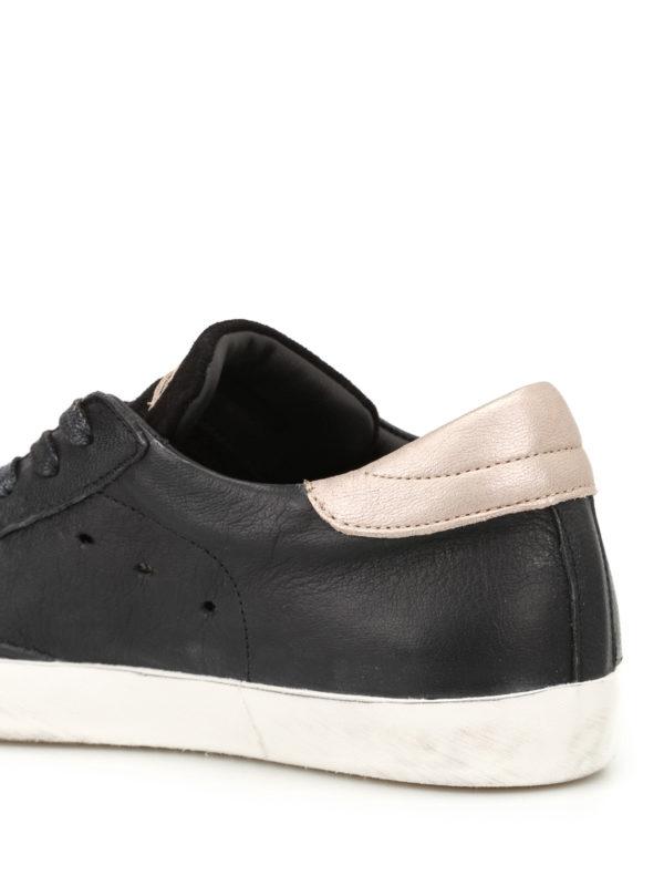 sneaker paris basic in pelle nera philippe model sneakers ikrix. Black Bedroom Furniture Sets. Home Design Ideas