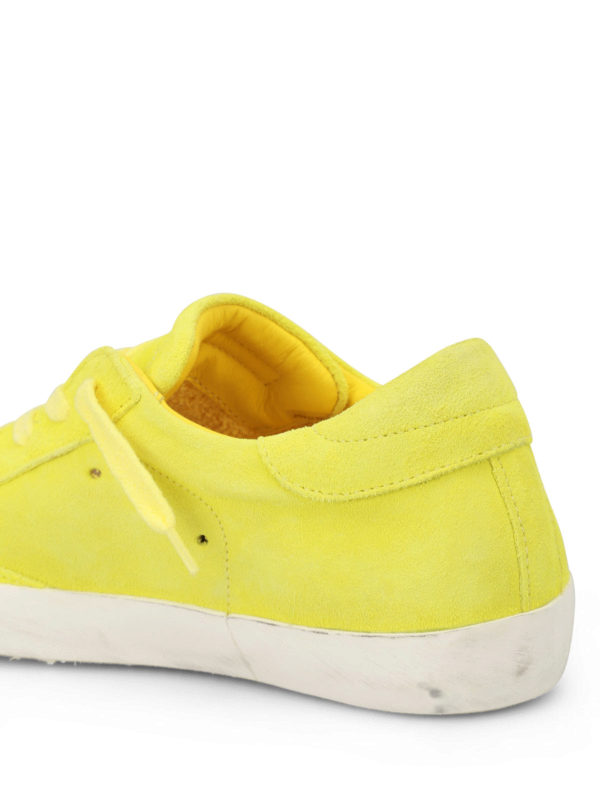 sneaker paris in suede giallo fluo philippe model sneakers ikrix. Black Bedroom Furniture Sets. Home Design Ideas
