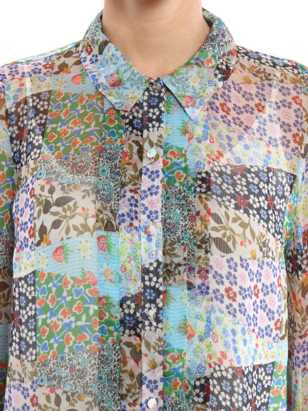 78f3ac61ac76a2 Paul   Joe Sister - Floral patterned silk shirt - shirts - PATCHFLOR ...