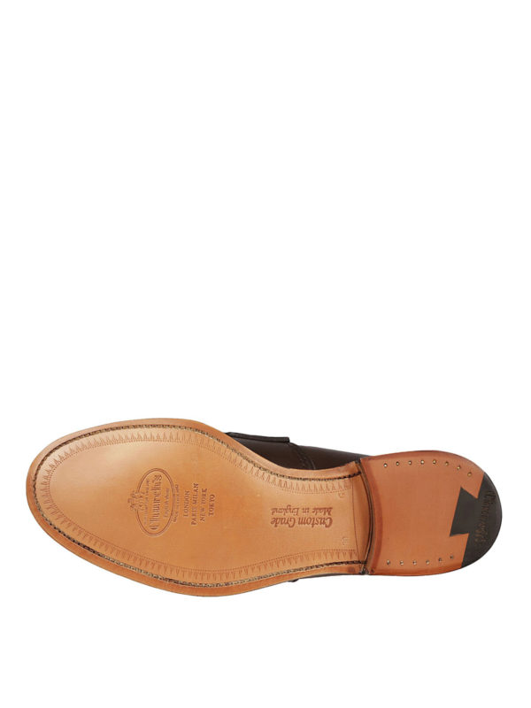 Pembrey brown leather loafers shop online: CHURCH