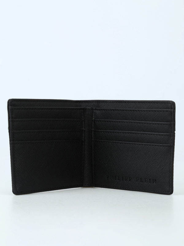 PHILIPP PLEIN buy online Clark faux leather and techno fibre wallet
