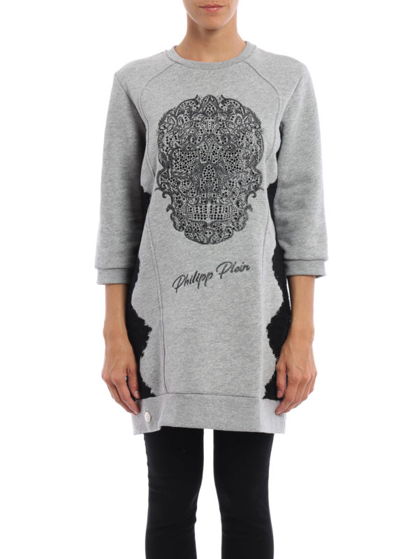 Philipp Plein: Sweatshirts und Pullover online - Sweatshirt - Grau