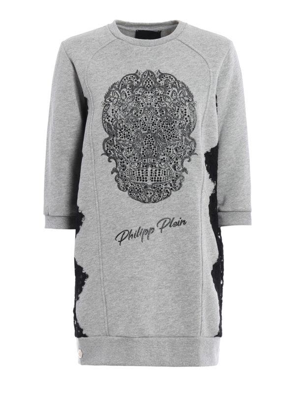 Philipp Plein: Sweatshirts und Pullover - Sweatshirt - Grau