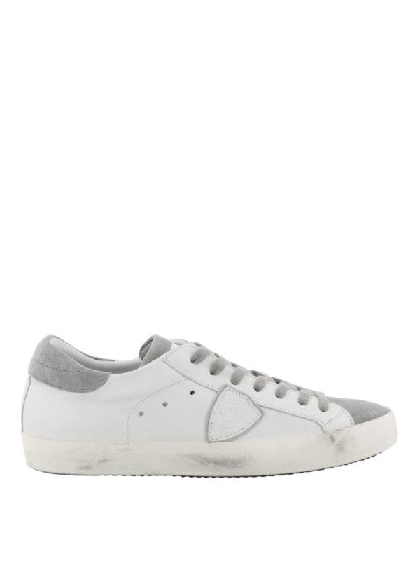 PHILIPPE MODEL  sneakers - Sneaker Paris basse in suede bianco e grigio d146b24ed1f
