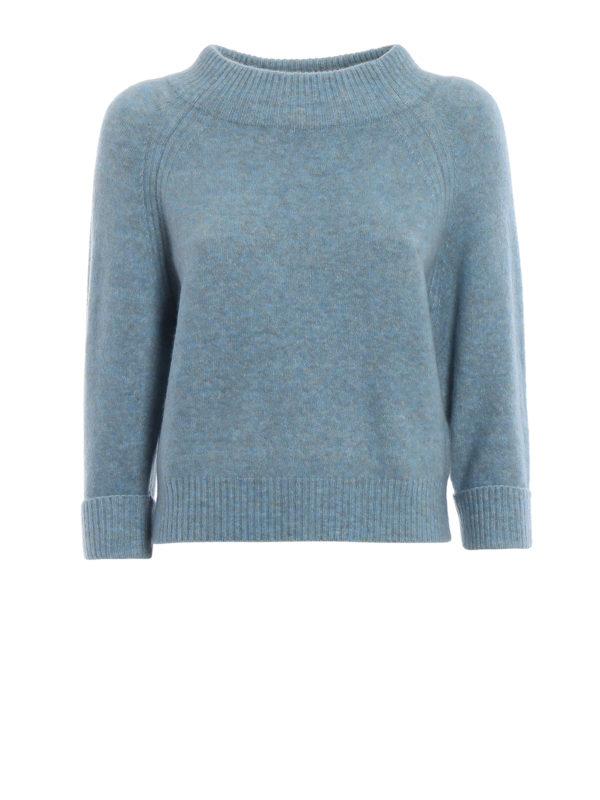 Excelente calidad Suéter Con Cuello Alto - Azul Claro de Phillip Lim - Cuellos altos y polos - P1817058LYCLI450 - CKUJOSE