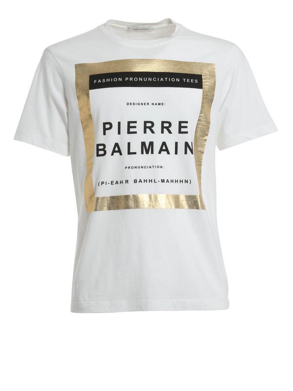 fb782866 Pierre Balmain - Crew neck Balmain t-shirt - t-shirts - HP6367S7385